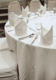 Tabela do partido do banquete Fotografia de Stock