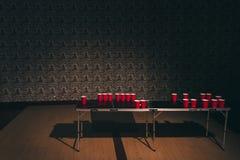 Tabela do pong da cerveja Foto de Stock