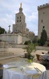 Tabela do restaurante em Avignon Foto de Stock Royalty Free