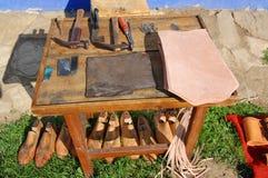 Tabela do shoemaker fotografia de stock