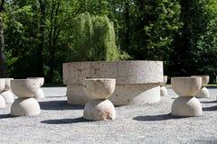 A tabela do silêncio de Constantin Brancusi, Targu Jiu, Romênia Fotografia de Stock