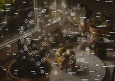 Tabela dos conectores da esfera em casa imagens de stock royalty free