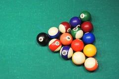 Tabela e bolas de bilhar Imagens de Stock Royalty Free