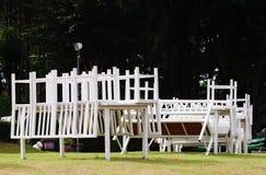 Tabela e cadeira Fotografia de Stock Royalty Free