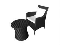 Tabela e cadeira ao ar livre Fotografia de Stock
