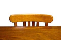 Tabela e cadeira de madeira Fotos de Stock Royalty Free