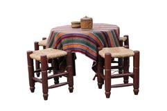 Tabela e cadeira tradicionais Imagens de Stock Royalty Free