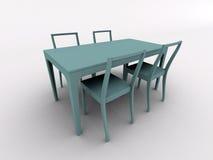 Tabela e cadeiras ilustração stock