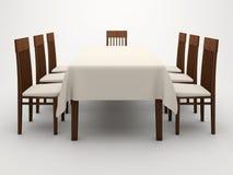 Tabela e cadeiras Imagem de Stock