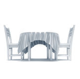 Tabela e cadeiras ilustração royalty free