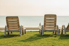 Tabela e cadeiras Imagens de Stock Royalty Free