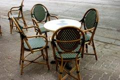 Tabela e cadeiras Fotografia de Stock