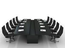 Tabela e cadeiras de conferência ilustração royalty free