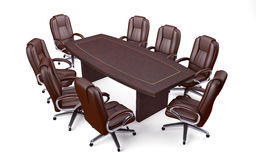 Tabela e cadeiras de conferência do escritório da sala de reuniões Fotografia de Stock