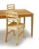 Tabela e cadeiras de jantar imagem de stock royalty free