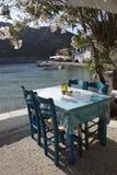 Tabela e cadeiras de Taverna Imagem de Stock Royalty Free