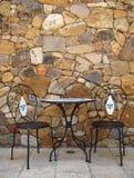 Tabela e cadeiras do café Imagens de Stock