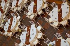 Tabela e cadeiras do casamento Fotos de Stock
