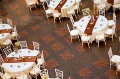 Tabela e cadeiras do casamento Fotografia de Stock