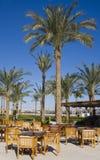 Tabela e cadeiras em Egipto. Foto de Stock Royalty Free
