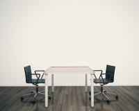 Tabela e cadeiras interiores modernas Imagens de Stock Royalty Free