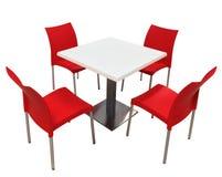 Tabela e cadeiras isoladas Fotografia de Stock Royalty Free