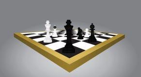 Tabela e figuras da xadrez ilustração stock