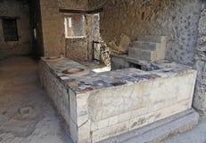 Tabela e fornos - Pompeii imagens de stock royalty free