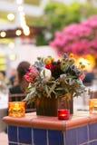 Tabela e refeição incorporadas de jantar Fotos de Stock