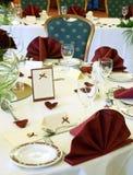 Tabela elegante do casamento Foto de Stock