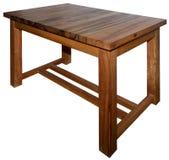 Tabela feita da madeira real da noz Imagem de Stock Royalty Free
