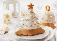 Tabela festiva para o Natal Imagens de Stock Royalty Free
