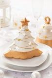 Tabela festiva para o Natal Foto de Stock Royalty Free