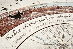 Tabela francesa da orientação, Houlgate fotografia de stock royalty free