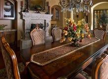 Tabela home da sala de jantar da mansão Imagem de Stock