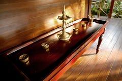 Tabela indiana tradicional da massagem Imagens de Stock Royalty Free