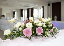 tabela kwiatów bukietów ślub Obraz Royalty Free