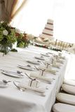 tabela ślub Zdjęcia Stock