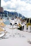 tabela ślub obiad Zdjęcie Royalty Free