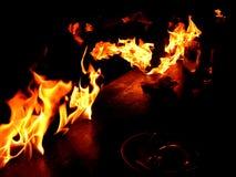 Tabela no incêndio fotografia de stock