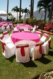 Tabela o evento do casamento das FO Foto de Stock Royalty Free