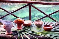 Tabela para o curandeiro maia Ceremony fotos de stock royalty free