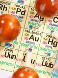 Tabela periódica de elementos químicos foto de stock