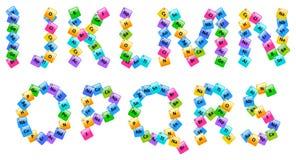 Tabela periódica de letras do alfabeto dos elementos Fotos de Stock Royalty Free