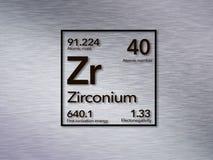 Tabela periódica do Zr do zircônio foto de stock royalty free