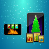 Tabela plana do Natal Fotos de Stock