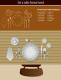 Tabela que ajusta o almoço formal Imagem de Stock