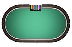 Tabela realística do pôquer Imagens de Stock
