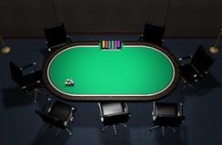 Tabela realística do pôquer Foto de Stock