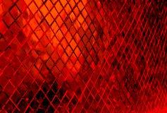 Tabela retangular alaranjada e vermelha com uma superfície de vidro Fotografia de Stock Royalty Free